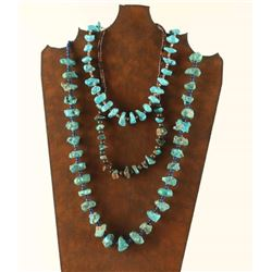 Lot of 3 Navajo Turquoise beaded Necklaces