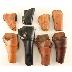 Lot of (8) Leather Holsters