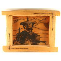 """Clint Eastwood"" Pencil on Wood"