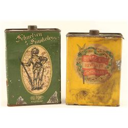 Lot of (2) Gunpowder Tins