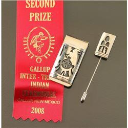 Award Winning Hopi Money Clip & Hat Pin