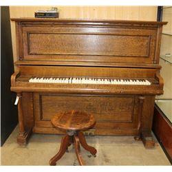 Antique Baus Upright Piano