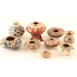 Lot of (9) Miniature Casa Grande Pots