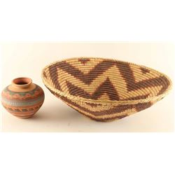 Ethnic Basket and Pot