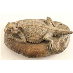 """Bronze of """"Horn Toad"""""""