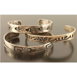 Lot of 3 Hopi Cuffs