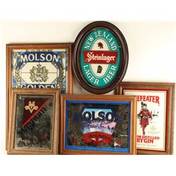 Lot of (5) Beer Mirrors