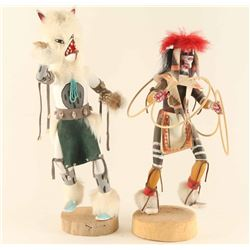 Lot of (2) Navajo Kachinas