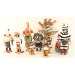 Lot of (9) Miniature Kachinas