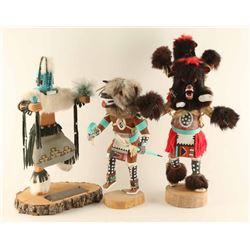 Lot of (3) Navajo Kachinas