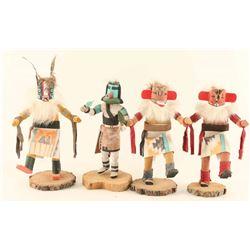 Lot of (4) Navajo Kachinas