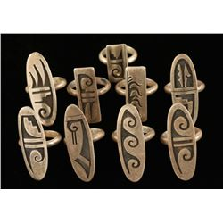 Collection of 9 Hopi Rings