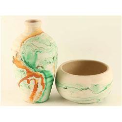Lot of (2) Nemadji Pottery Pieces