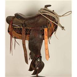 Western Tooled Saddle