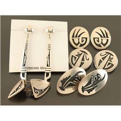 Lot of 5 Hopi Earrings