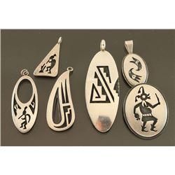 Lot of 6 Hopi Pendants