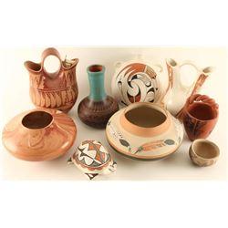 Lot of (9) Indian Pots