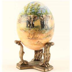 Handpainted Ostrich Egg