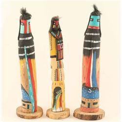 Lot of (3) Hopi Kachinas
