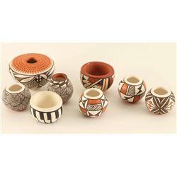 Lot of (8) Tiny Acoma Pots