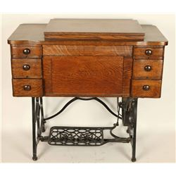 Antique Sewing Machine and Cabinet