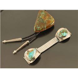 Navajo Turquoise Bolo & Watchband