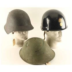 Lot of (3) Helmets