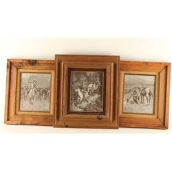 Lot of (3) Frederick Remmington Etchings
