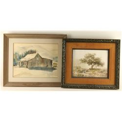 Lot of (2) Framed Pieces of Art