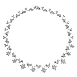 4.57 CTW Diamond Necklace 18K White Gold - REF-393X9R