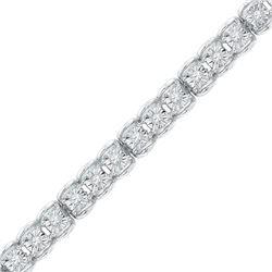 Womens Round Diamond Tennis Bracelet 1/2 Cttw 10kt White Gold - REF-71Y9N
