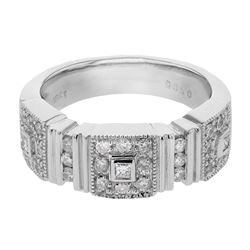 0.50 CTW Diamond Ring 18K White Gold - REF-97X7R