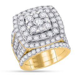 Round Diamond Bridal Wedding Ring Band Set 6 Cttw 14kt Yellow Gold - REF-473A5M