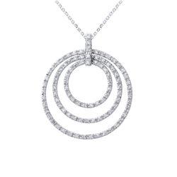 1.5 CTW Diamond Necklace 14K White Gold - REF-91R5K
