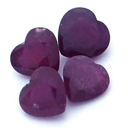10.73 ctw Heart Mixed Ruby Parcel