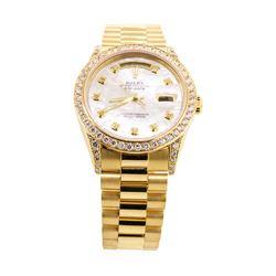 Rolex Men's President Wristwatch - 18KT Yellow Gold