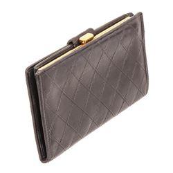 Chanel Black Lambskin Leather French Purse Wallet