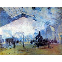 Claude Monet - Saint Lazare Station in Paris