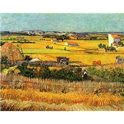 Van Gogh - Harvest At La Crau With Montmajour In The Background