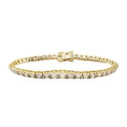 13.21 ctw Diamond Bracelelet - 18KT Yellow Gold