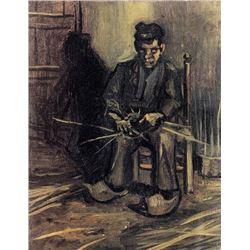 Van Gogh - Peasant Making A Basket