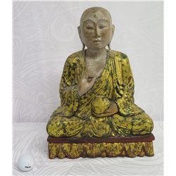 "Sitting Buddha, Made in Indonesia 12""x15"" High"