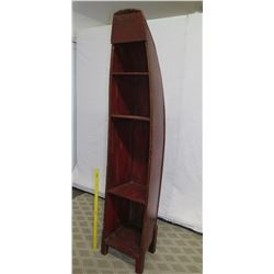 Ching Style Lacquered Soft Wood Restored River Boat 20.5 W x 14 D x 93  Tall, Certified Antique