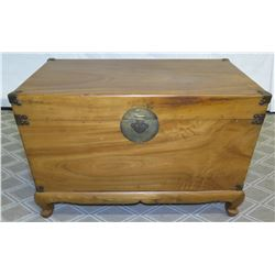 """Wooden Chest w/ Removable Base & Metal Hardware 37"""" x 20"""" x 26"""" Ht"""