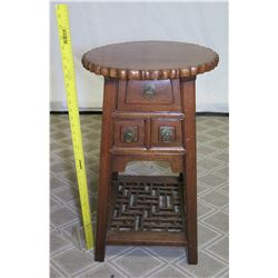 """Ching Dynasty Elm & Chinese Wood Barber Chair 16""""x30"""" Tall, Certified Antique"""