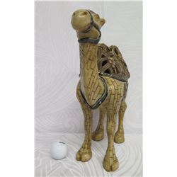 """Austin 2-Humped Camel w/ Saddle, Removable Lid, Dromedary Box, Signed by Artist 13"""" H"""