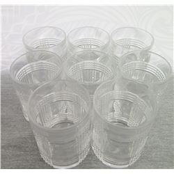 "Qty 8 Ralph Lauren Beverage Glasses 6"" Tall"