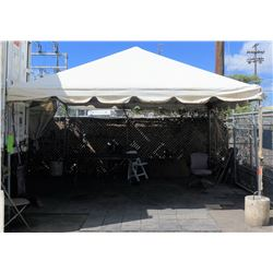 White Party Tent w/ Canvas, Poles & Hardware 15' x 15'