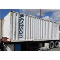 Shipping Container w/ Chassis 24-Foot (no paperwork available for chassis) - Pick-up Monday/Tuesday
