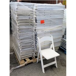 Qty Approx. 70 White Resin Folding Chairs